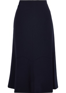 Rebecca Taylor Woman Fluted Cady Midi Skirt Midnight Blue