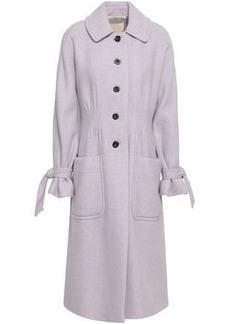 Rebecca Taylor Woman Mélange Wool-blend Felt Coat Lilac