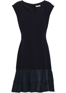 Rebecca Taylor Woman Terri Jacquard-knit Mini Dress Navy