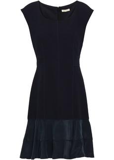 Rebecca Taylor Woman Terri Jacquard-knit Mini Dress Navy