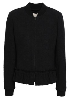Rebecca Taylor Woman Tweed Bomber Jacket Black