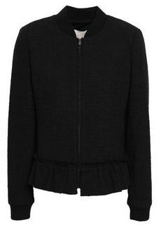 Rebecca Taylor Woman Tweed Bomber Jacket Black