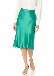 Rebecca Taylor Women's Bias Cut Charmeuse Midi Skirt  S