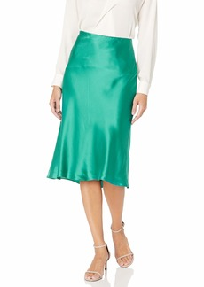 Rebecca Taylor Women's Bias Cut Charmeuse Midi Skirt  M