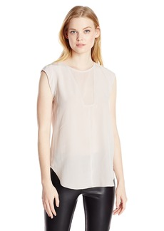 Rebecca Taylor Women's Charlie Silk Cap-Sleeve Blouse