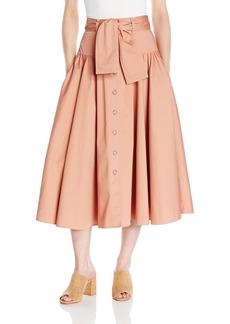 Rebecca Taylor Women's Ctn Belted Skirt