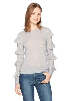 Rebecca Taylor Women's Delicate Ruffle Pullover  L