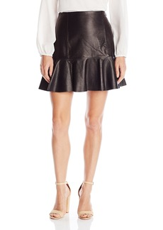 Rebecca Taylor Women's Embossed Leather Skirt