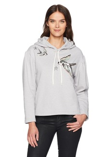 Rebecca Taylor Women's Embroidered Hoodie Pullover  S