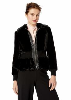 Rebecca Taylor Women's Faux Fur Jacket  L
