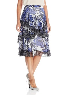 Rebecca Taylor Women's Flame Combo Skirt