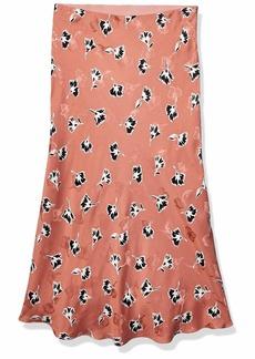 Rebecca Taylor Women's Floral Bias Cut Midi Skirt  XS