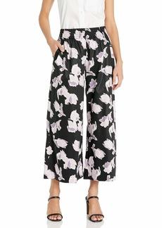 Rebecca Taylor Women's Ikat Floral Blossom Cotton Pant  L