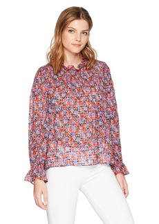 Rebecca Taylor Women's Long Sleeve Cosmic Floral Top
