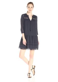 Rebecca Taylor Women's Long Sleeve Cotton Gauze Dress