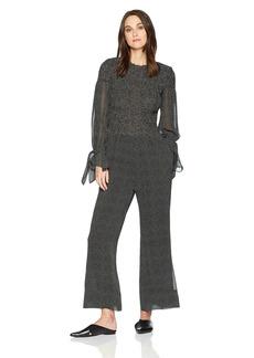 Rebecca Taylor Women's Long Sleeve Pebble Print Jumpsuit
