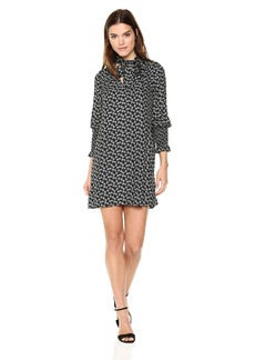 Rebecca Taylor Women's Long Sleeve Rue Floral Dress