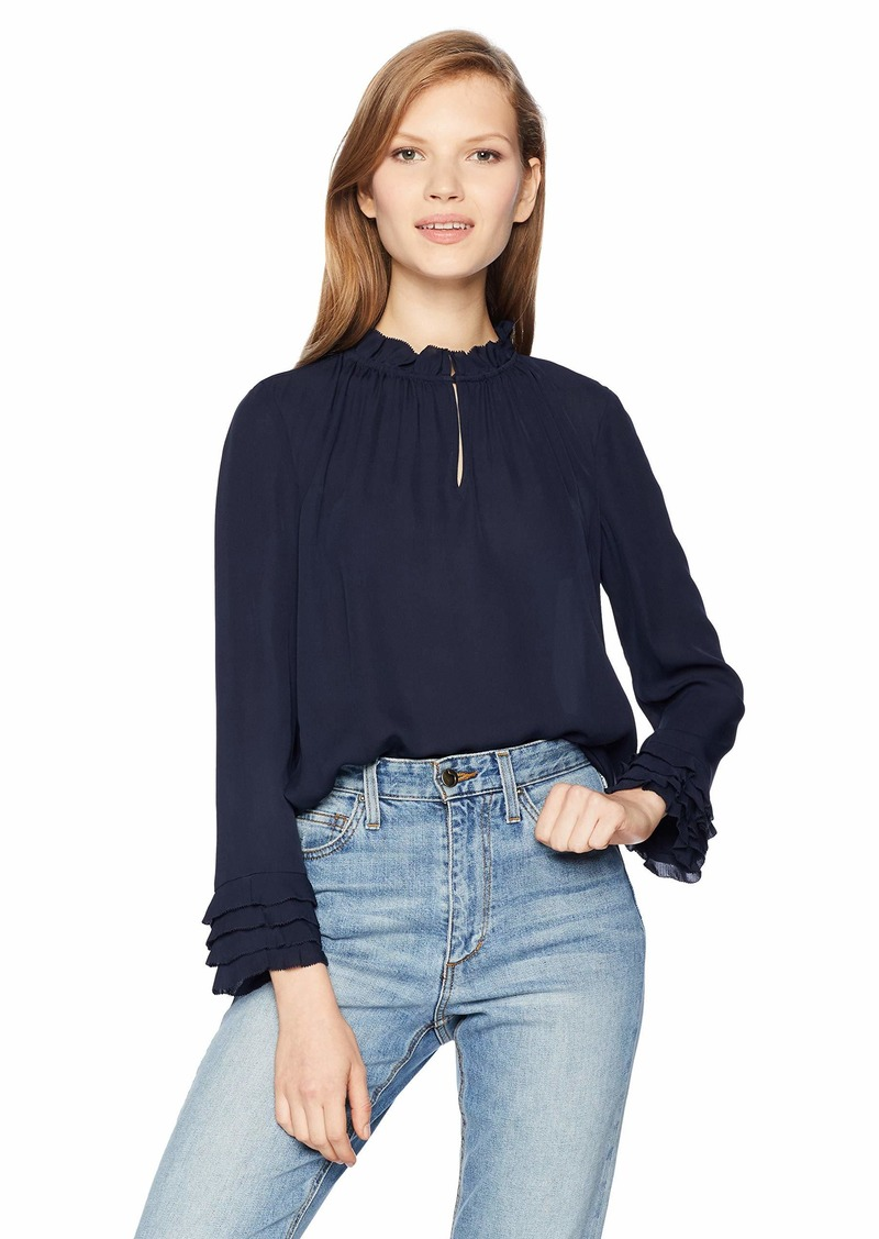 Rebecca Taylor Women's Long Sleeve Ruffle Top