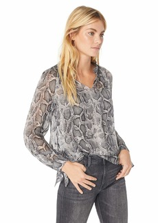 Rebecca Taylor Women's Long Sleeve Snake Clip Top