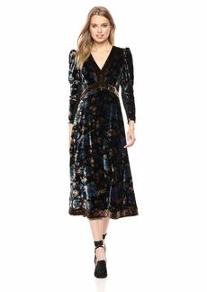 Rebecca Taylor Women's Long Sleeve Solstice V-Neck Dress