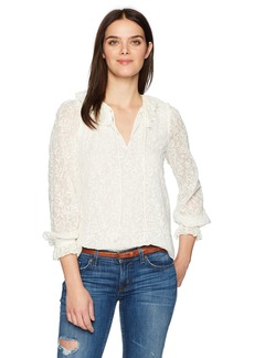 Rebecca Taylor Women's Long Sleeve Textured Vines Top