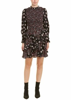 Rebecca Taylor Women's Longsleeve Print Mix Dress Combo