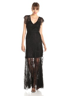 Rebecca Taylor Women's Luxe Lace Evening Gown