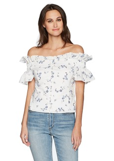 Rebecca Taylor Women's Off Shoulder Francine Top