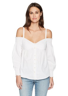 Rebecca Taylor Women's Off Shoulder Poplin Top