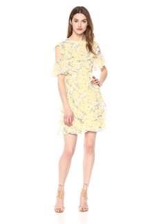 Rebecca Taylor Women's Open Shoulder Lemon Dress Combo