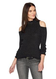 Rebecca Taylor Women's Open Shoulder Lurex Pullover