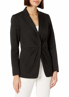 Rebecca Taylor Women's Ottoman Pleated Suiting Blazer
