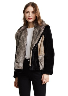 Rebecca Taylor Women's Patched Fur Jacket  S