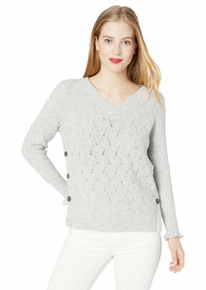 Rebecca Taylor Women's Pullover with Side Snap  M