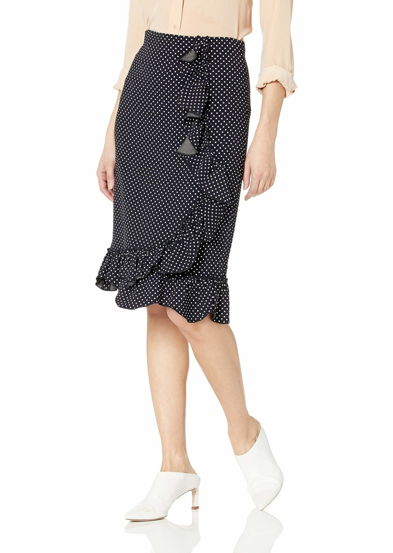 Rebecca Taylor Women's Ruffle Pencil Skirt