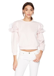Rebecca Taylor Women's Ruffle Sweatshirt  Extra Small
