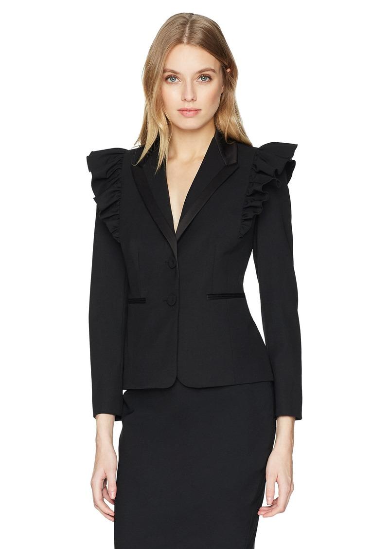 Rebecca Taylor Women's Ruffle Wool Jacket