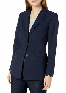 Rebecca Taylor Women's Scalloped Suiting Blazer