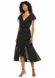 Rebecca Taylor Women's Short Sleeve Birdseye Dot Dress