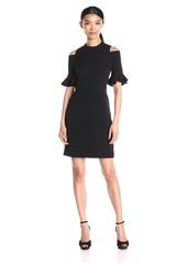 Rebecca Taylor Women's Short-Sleeve Cold-Shoulder Dress