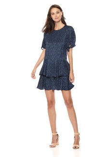Rebecca Taylor Women's Short Sleeve DOT Dress