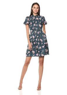 Rebecca Taylor Women's Short Sleeve Emilia v-Neck Dress