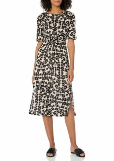 Rebecca Taylor Women's Short Sleeve Kaleidoscope Jersey Dress