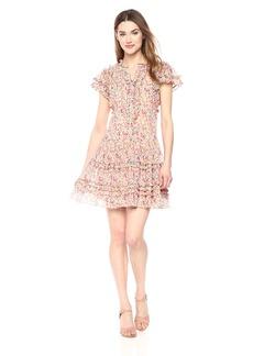 Rebecca Taylor Women's Short Sleeve Margo Floral Dress