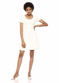Rebecca Taylor Women's Short Sleeve Scoop Neck Dress