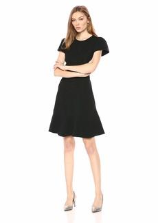 Rebecca Taylor Women's Short Sleeve Stretch Texture Dress
