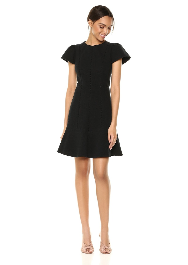 Rebecca Taylor Women's Short Sleeve Stretch Texture Dress