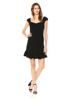 Rebecca Taylor Women's Short Sleeve Structured Textured Dress