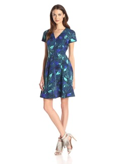 Rebecca Taylor Women's Short Sleeve Tahitian Floral Dress