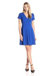 Rebecca Taylor Women's Short Sleeve V-Neck Dress
